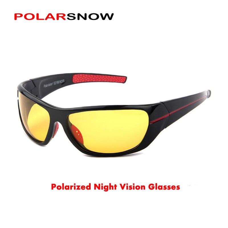 POLARSNOW 2019 Polarisierte Nacht Fahren Gläser Männer Hohe Qualität Polaroid Nachtsicht Brillen Oculos De Sol Masculino 211Y