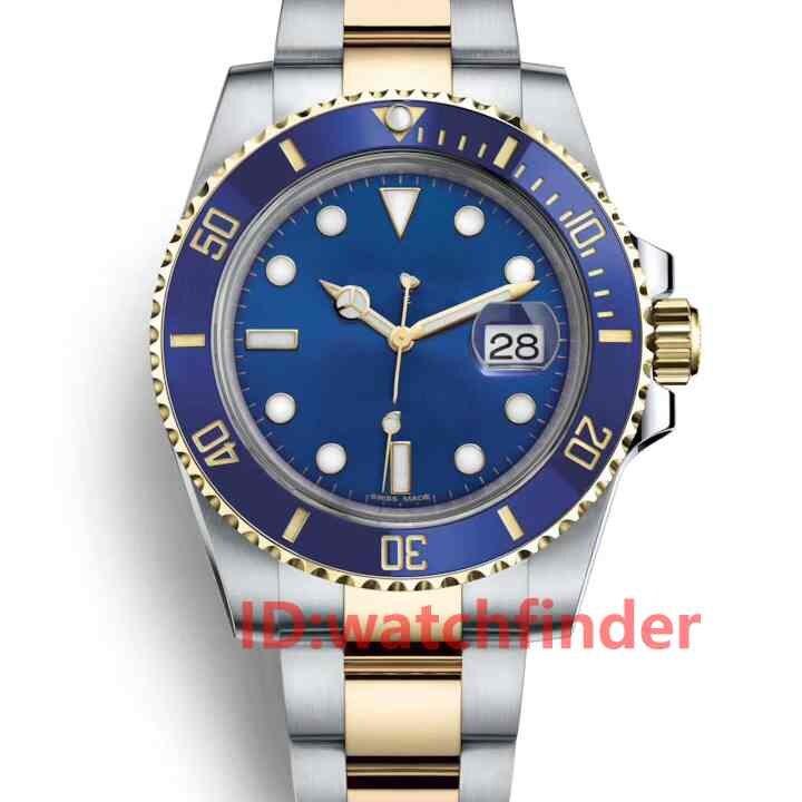 Azul Painel de Cerâmica Designer Pulseira Jubileu 2813 Gmt Mecânico Automático Mens Watch Relógios de Pulso Moda Relógios Dos Homens De Luxo