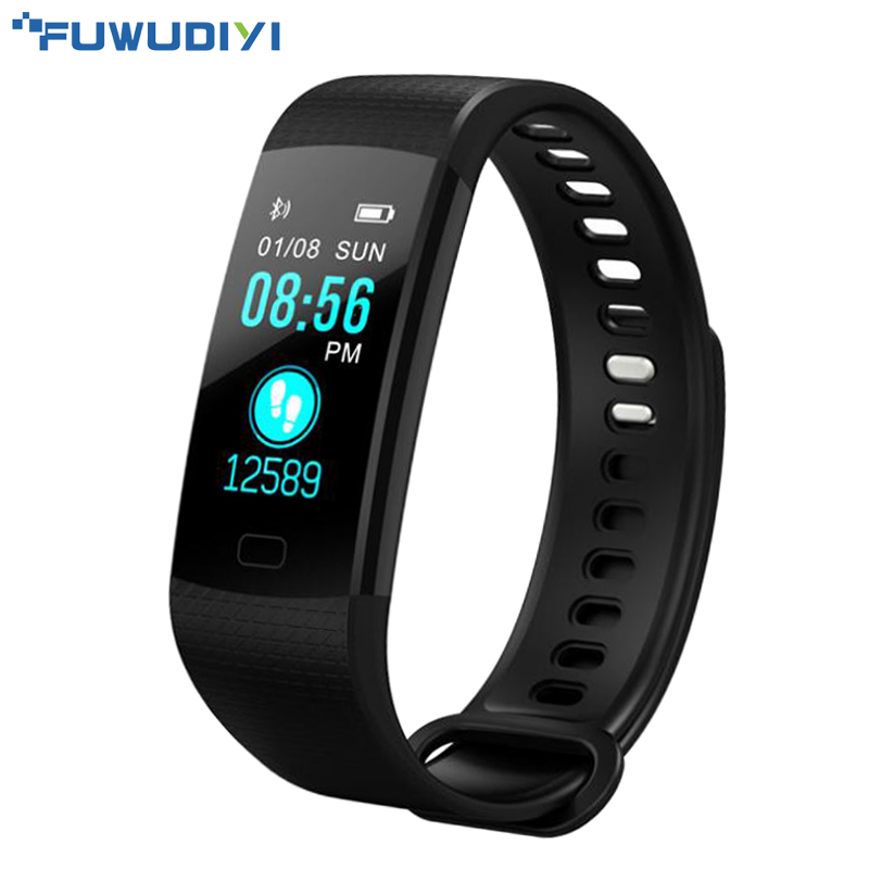 FUWUDIYI Y5 Smart Band Watch Heart Rate Activity Fitness Tracker Wristband Color Touch Screen Smart Bracelet