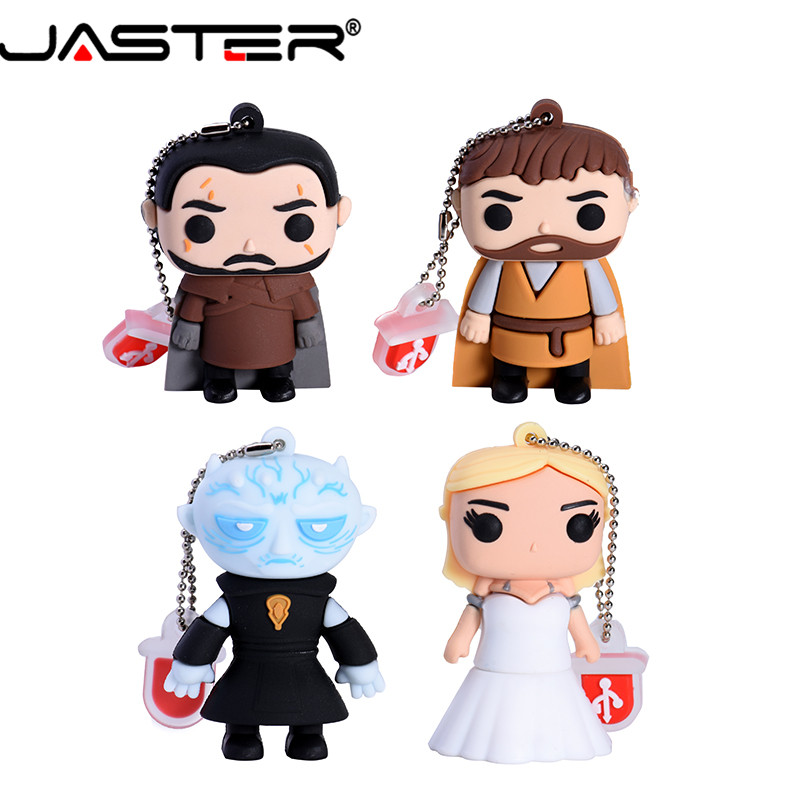 JASTER Cartoon USB 2.0 Right Game Series Flash Drive Yaoh Danielis Tilion Jon Snow Pen Drive 4GB 16GB 32GB 64GB Pendrive U Disk