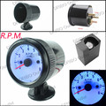 free shiiping Tachometer 52mm Black Auto Gauge 0-8000 Tachometer RPM Meter/Speedometer Gauges with Blue LED/car meter/Tacometro