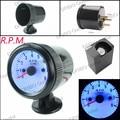 free shiiping Tachometer 52mm Black Auto Gauge 0-8000 Tachometer RPM Meter/Speedometer Gauges with Blue LED/car meter/Tacometro