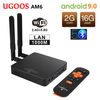 UGOOS AM6 Amlogic S922X Smart Android 9.0 TV Box DDR4 2GB RAM 16GB ROM 2.4G 5G WiFi 1000M LAN Bluetooth 5.0 4K HD Media Player