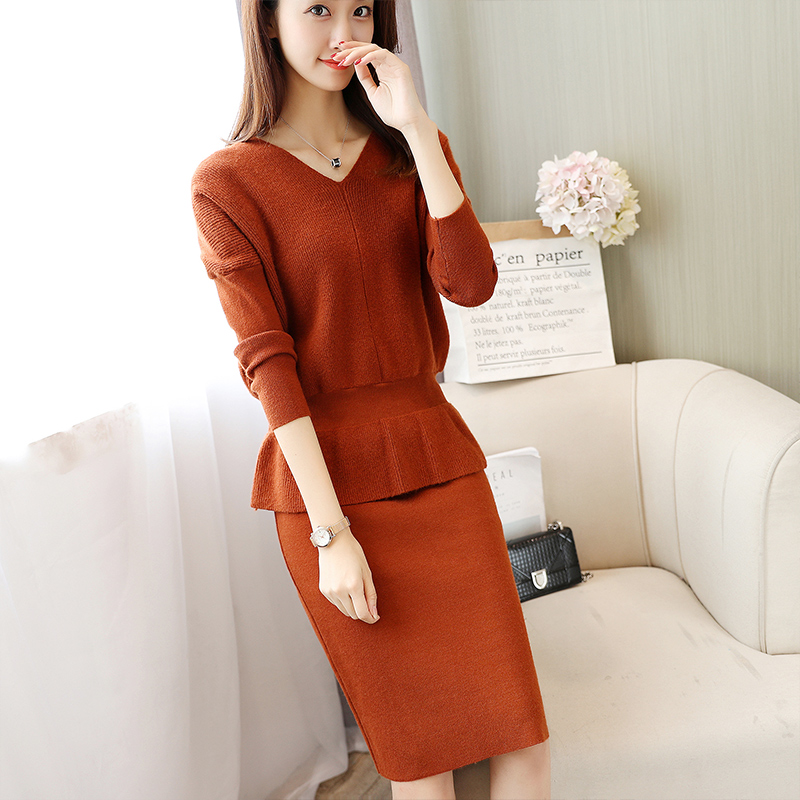 The new film 5615 batwing coat knitting skirt suit row 6, 2 / f, 70 no. 4