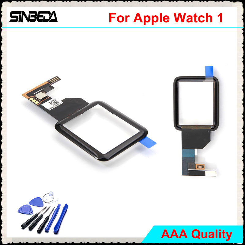 Sinbeda 100% Guarantee For Apple Watch Series 1 1st 38mm 42mm Touch Screen Digitizer Glass Sport / Sapphire version Black