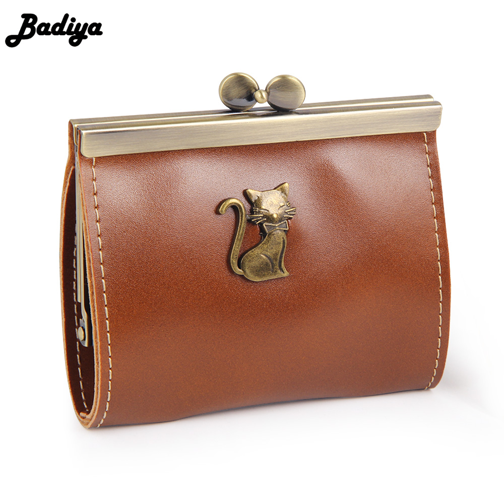 Clutch Bag Coin Purses Small Brand New Cat Metal Pattern PU Leather Kiss-lock Coin Purse Hasp Women Wallets детская футболка классическая унисекс printio космо кот space cat