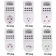 все цены на EU UK US FR BR Plug Digital Weekly Programmable Electrical Wall Plug-in Power Socket Timer Switch Outlet Time Clock 220V 110V AC онлайн