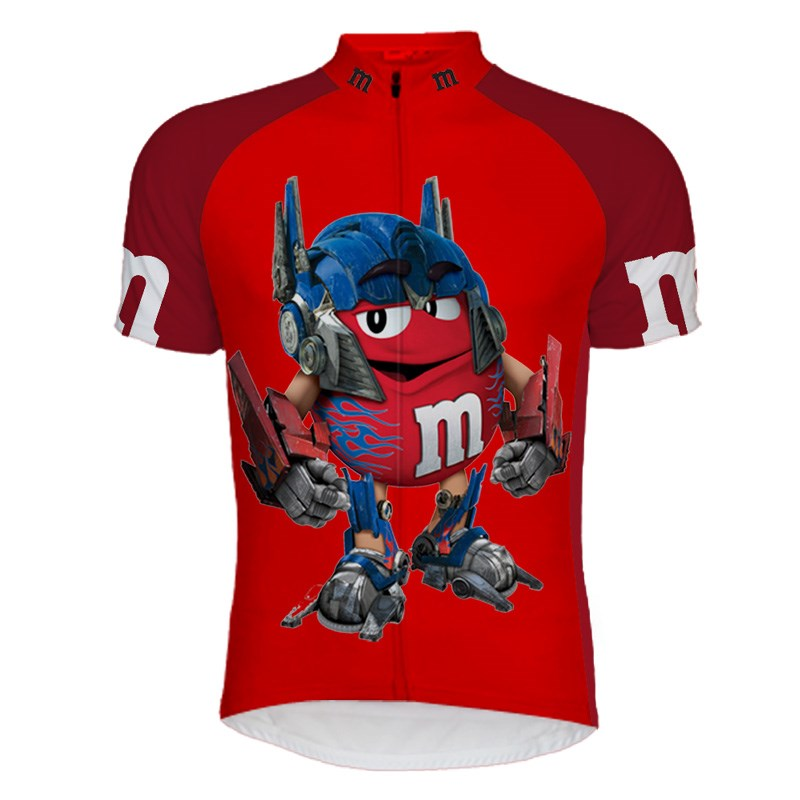 M&Ms 2018 Mens Cycling Jerseys Quick-Dry Breathable Summer Team Bicycle Clothing Shirt Ropa Ciclismo MTB Bike Jerseys Tops