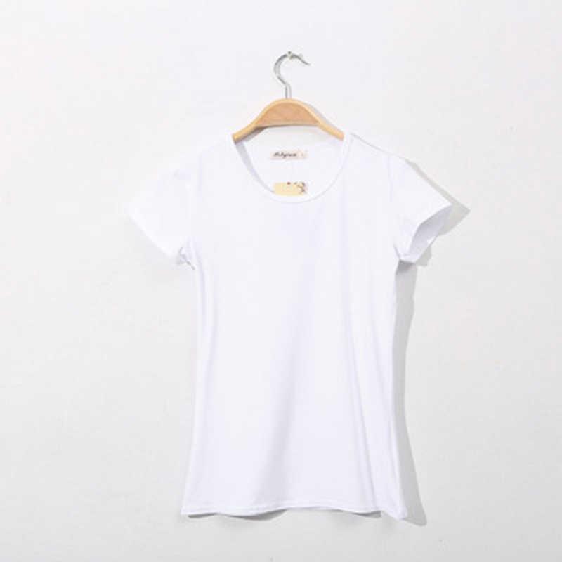 Базовая женская футболка с коротким рукавом и О-образным вырезом, повседневная женская футболка, черная, белая, летняя Однотонная футболка, тонкая футболка