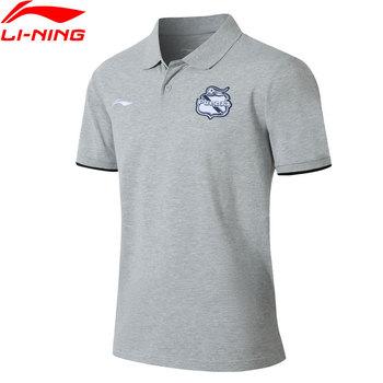 Li-ning mężczyźni Puebla Club koszulka Polo regularny krój oddychająca komfort LiNing Li Ning t-shirty sportowe koszulki topy APLM133 MTP500 tanie i dobre opinie Pasuje prawda na wymiar weź swój normalny rozmiar Flexible