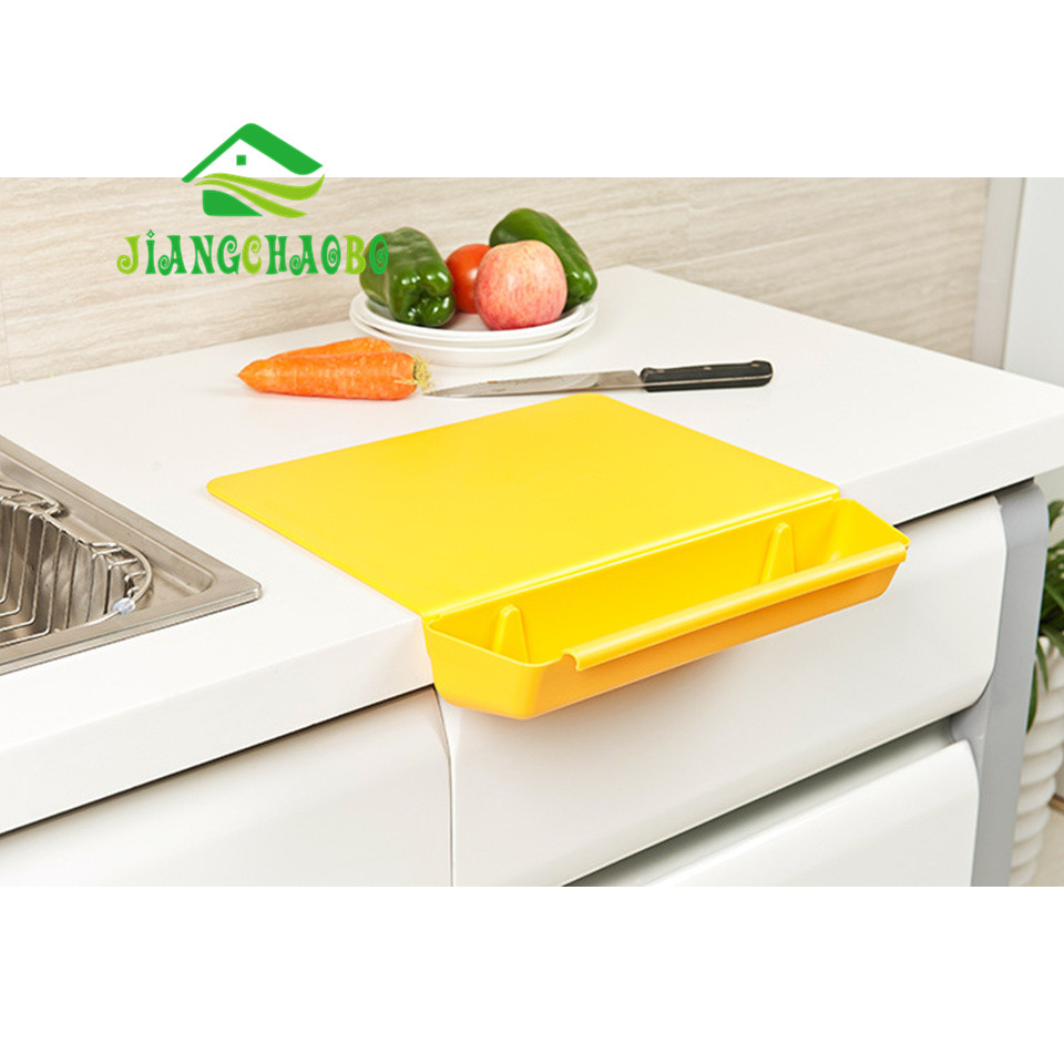 2 dalam 1 Kitchen Folding Chopping Board Kreatif Non-slip Folding Cutting Board Camping Antibacteria Chopping Board Cooking Mat
