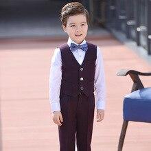 Boys 4 PCs Suit Waistcoat, Shirt ,Pant ,Bow tie .
