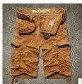 Novo 2017 Da Marca de Verão 100% Dos Homens do Algodão Shorts Da Praia Casuais Camuflagem Militar de Carga Solta Calças Curtas Masculina 4 Cores