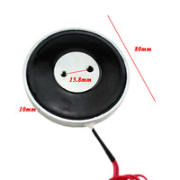 80*10mm Tenir Électro-Aimant De Levage 25 KG/250N Solénoïde Sucker Licence plaque Électro-Aimant DC 12 V 24 V Non-standard personnalisé