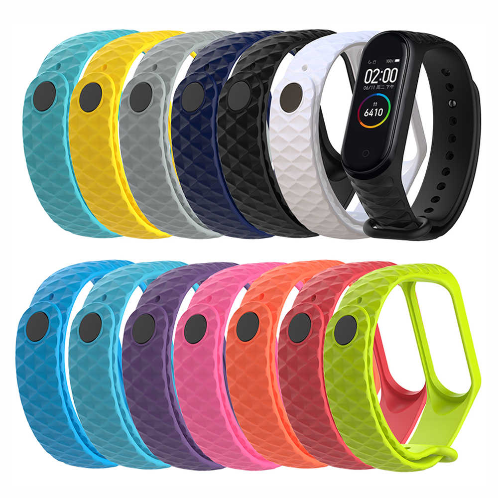 Wristband For   Band 4 3 TPU Colorful Strap Replacement Fashion Smart Sport Watch Wrist Band for band 4 3