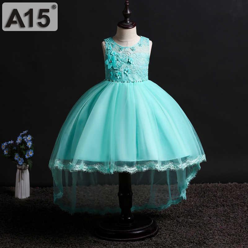 פרח Girs שמלות למסיבה וחתונה קיץ נסיכת שמלת בנות תלבושות אדום פעוט ילדים תחרת טוטו שמלת גודל 8 10 כדי 14