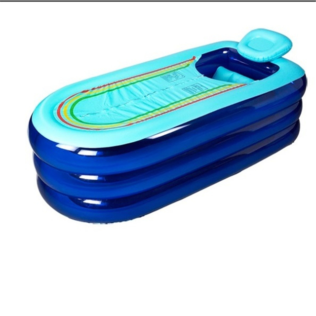 hh# In his large extended adult inflatable plastic tub thickening folding bath bathing barrel FREE SHIPPING