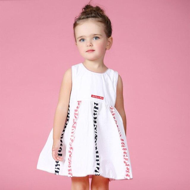 8df054f0dd1e7f 2016 Zomer Jurk Meisjes Kleding Baby Kids Katoen Japon Ontwerpen Rainbow  Kleurrijke jurk Voor Baby Meisjes