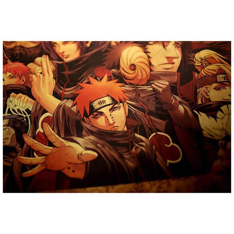 Naruto Shippuden Trò Chơi Phim Hoạt Hình Áp Phích Nghệ Thuật Lụa Vải In 51x35 cm Sasuke Tường Hình Ảnh Phòng Trang Trí Nội Thất