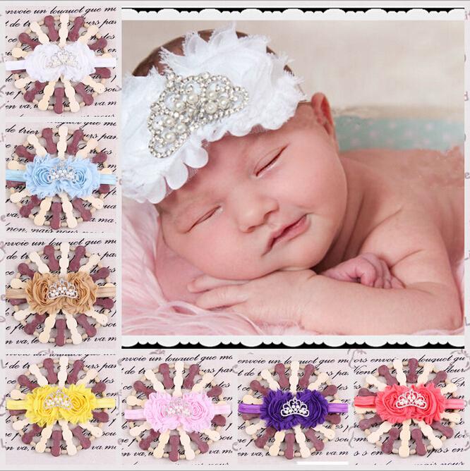 unidslote princesa tiara diadema beb de la perla vinchas corona flash flores hairband