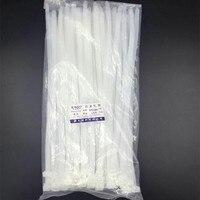 100Pcs Lot 8 350mm High Quality Width 7 6mm Black White Color Self Locking Plastic Nylon