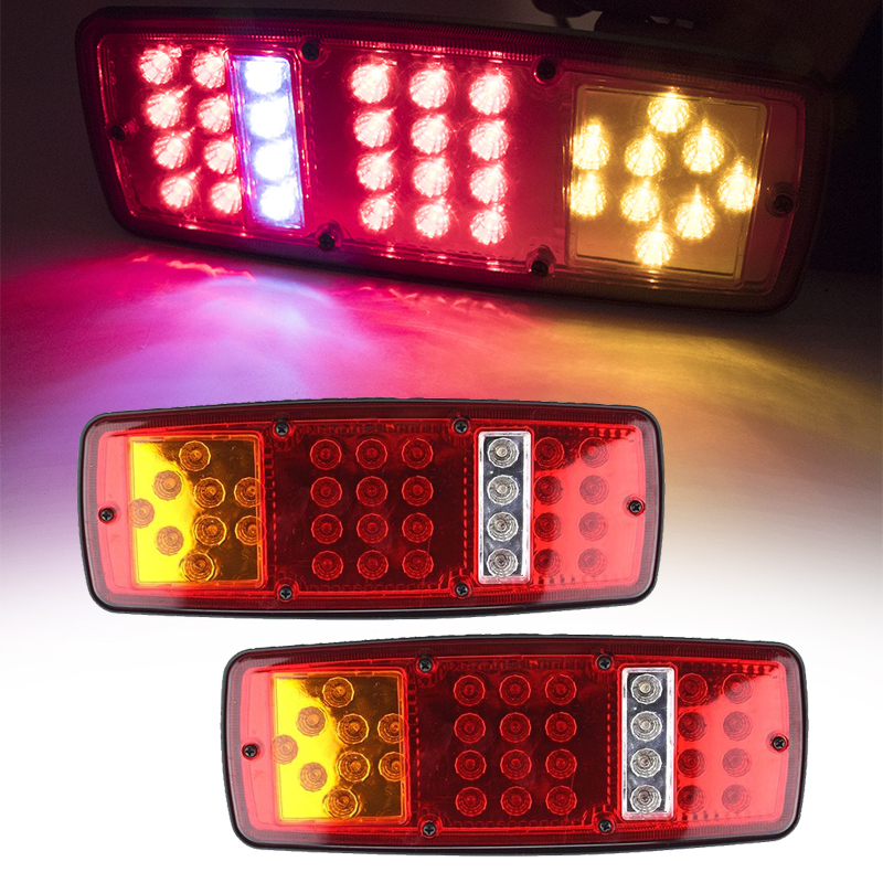 Camion 2X Fanali Posteriori A LED Per Rimorchio 12 V Roulotte