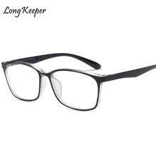 6cf430a32 LongKeeper Nova Alta Qualidade Feminino Óculos de Grau óculos de Armação  Das Mulheres Dos Homens Do Vintage Computador Óptico Es..