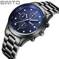 GIMTO brand high quality men's sport watch fashion steel band quartz watch Multi-function analog clock Military Watches Relogio