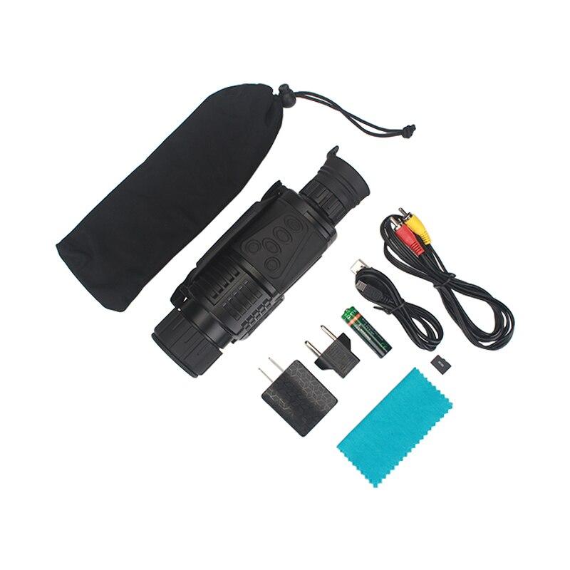 WG540 monoculaires de Vision nocturne numérique infrarouge avec carte 8G TF full dark 5X40 200M gamme optique de Vision nocturne monoculaire de chasse - 5