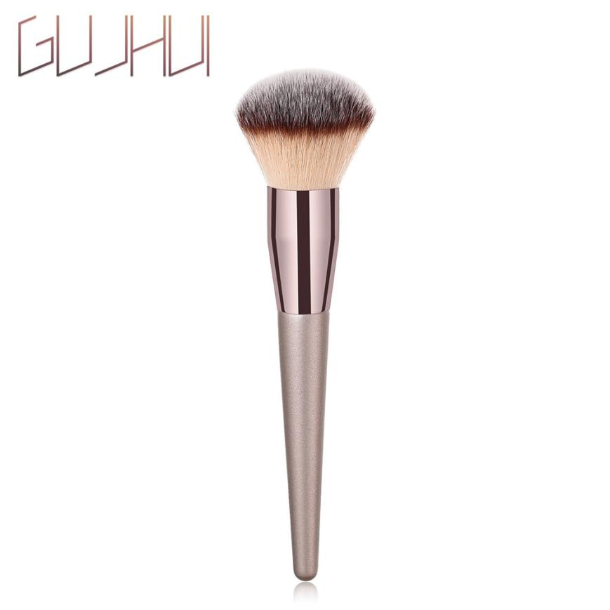 GUJHUI Eyebrow Eyeshadow Makeup Brushes 1PCS Wooden Foundation Cosmetic Women's