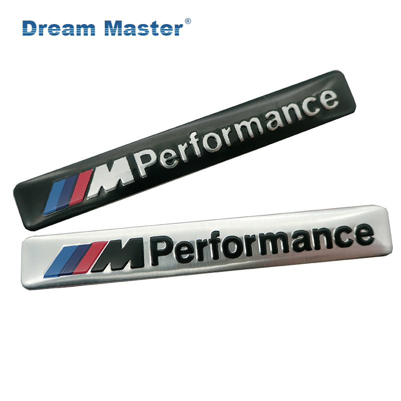 Aluminum M Power Performance Car Sticker Decal Emblem Badge For BMW M 1 3 4 5 6 7 E Z X M3 M5 M6 Mline Car Styling Accessories цена