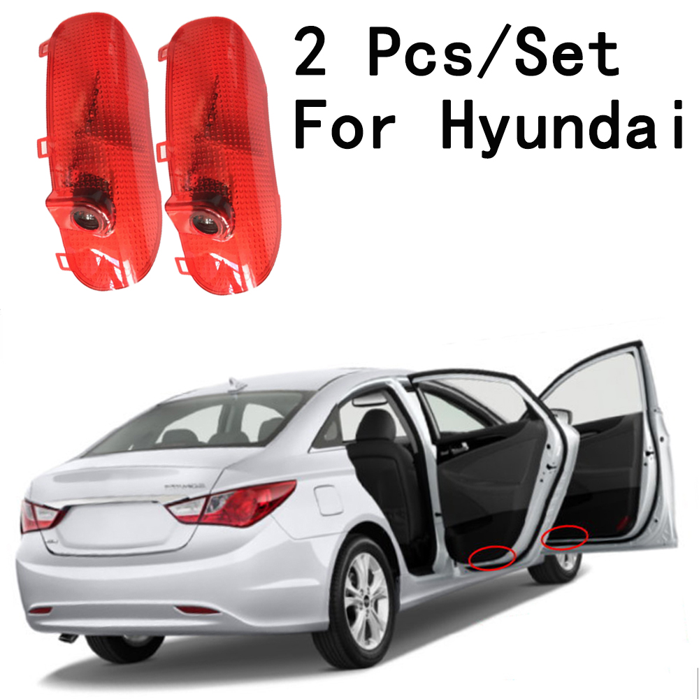 2Pcs/Set With Logo Lens Include Only For Hyundai/Sonata 8 Auto Door Lamp 12/24V LED Courtesy 5W Ghost Shadow Projetor
