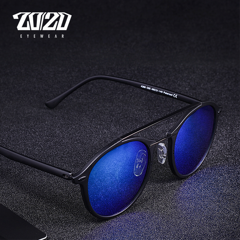 20/20 Brand Men Retro Polarized Sunglasses Women Classic Brand Designer Unisex Sunglasses Double Beams Glasses 1