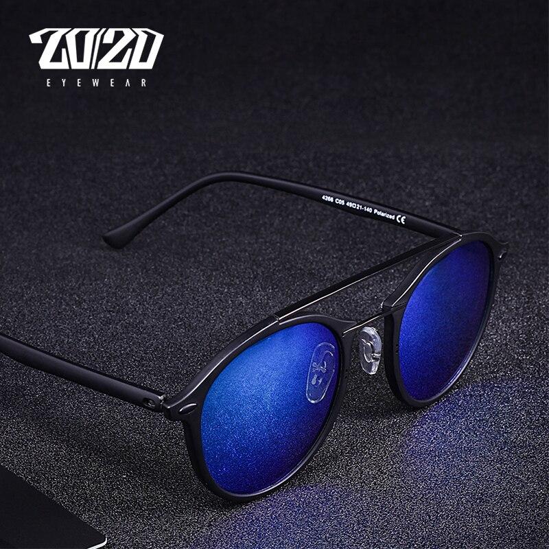 20 20 Brand Men Retro Polarized Sunglasses Women Classic Brand Designer Unisex Sunglasses Double Beams Glasses