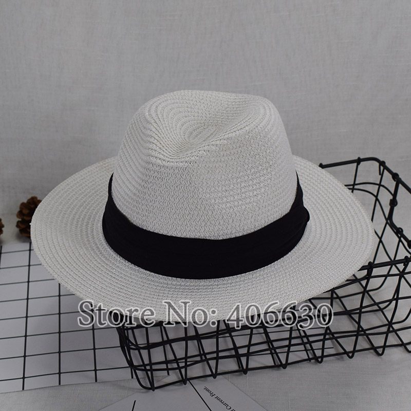 afb653b00 US $9.5 |Summer Straw Beach Sun Hats For Women Chapeu Fedoras Wide Brim  Panama Cap Free Shipping WHDS015-in Men's Sun Hats from Apparel Accessories  on ...