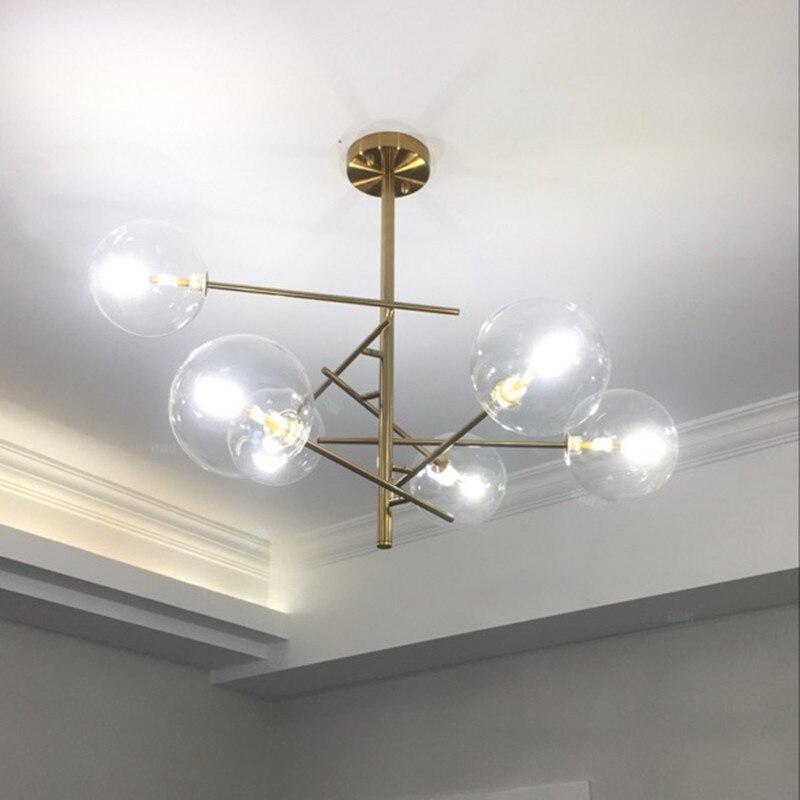 Modern Pendant Lights Glass Ball Ceiling Lamp For Living Room Globe Hanglamp Kitchen Fixtures suspension luminaire Lighting