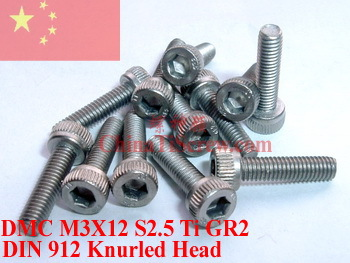 Titanium screw M3X12 DIN 912 Socket head Hex 2.5 Driver Ti GR2 Polished 50 pcs 50pcs lot iso7380 m3 x 6 pure titanium button head hex socket screw