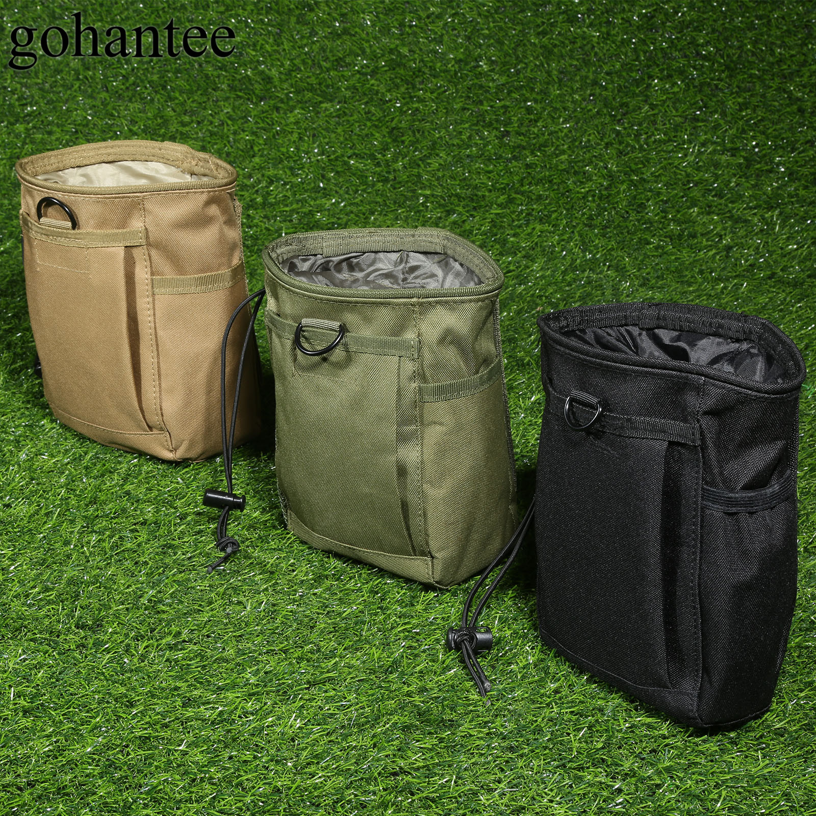 gohantee Tactical MOLLE Pouch Military Waist Bag Holster Hunting Utility Magazine Pouch Travel Pouch Medic Kit Package 20x14x8cm