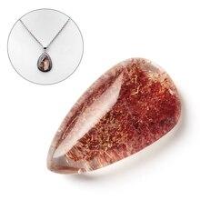 2 шт случайный цвет драгоценный камень натуральный призрак кристалл фантомный камень Исцеление орнамент кулон кварц цвет полный Целебный Камень домашний декор