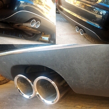 ESPEEDER 2 adet oto araba kuyruğu çift Letout paslanmaz çelik egzoz ucu borusu ucu susturucu modifiye Audi A1 A3 VW Beatles