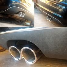 ESPEEDER 2Pcs Auto Car Tail Dual Letoutสแตนเลสท่อปลายท่อไอเสียTip Muffler ModifiedสำหรับAudi A1 A3 VW Beatles