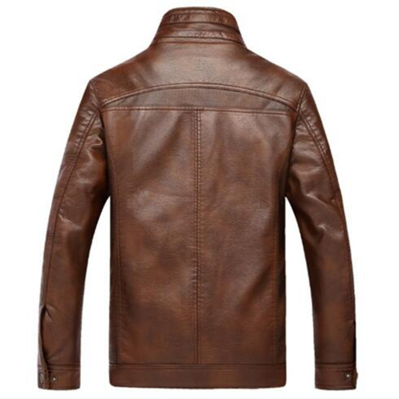 new Leather Jacket Men Coats 4XL Brand High Quality PU Outerwear Men Business Winter Faux Fur Male Jacket Fleece in Faux Leather Coats from Men 39 s Clothing