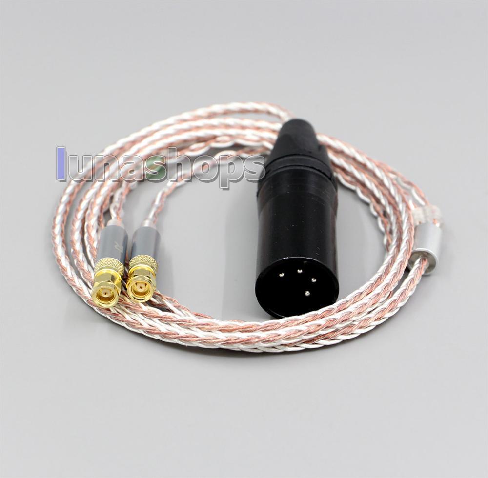 LN006287 cyh-series haute qualité noir carbone baril 4.4mm TRRS équilibré femelle personnalisé bricolage adaptateur