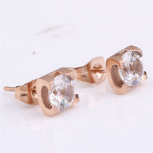Rose Gold Color Big Earrings