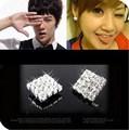 Корейские ювелирные изделия Модные серьги женский темперамент квадратный полный Fangzuan Бесплатная доставка 4ED175 - фото