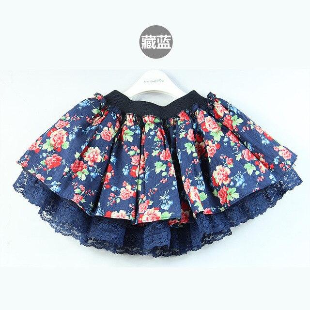 Korean version  children's new flower garden children skirt for girls skirts