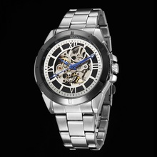 GOER brand fashion men s automatic watches waterproof sports Luminous Skeleton Male watch stainless steel mechanical