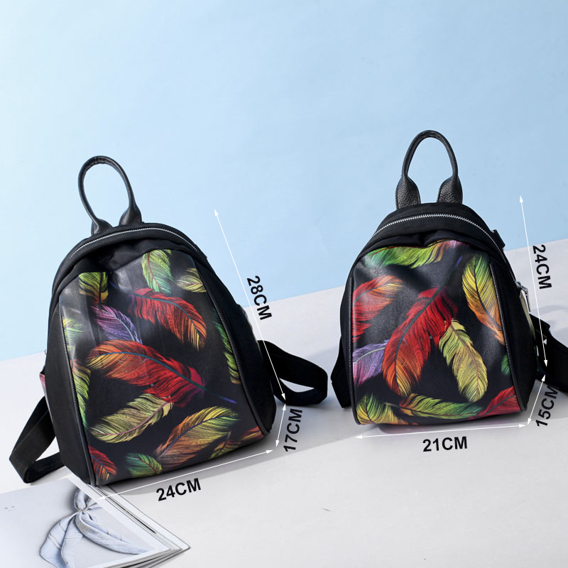 Amarte Nylon Printing Backpack Female Women Bag Bags For Women 2017 S Backpacks For Adolescent Girls Women Mochila