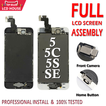 Complete Full Set LCD Screen For iPhone 5 5C 5S SE LCD Display Touch Screen Assembly Replacement with Home Button+Front Camera j26 j27 j28 j32 e80 camera lcd shows screen
