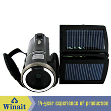 Winait 8X digital zoom HDV-T92 digital video camera with dual solar panel as battery charger
